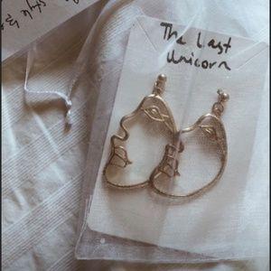 ❤️Half Face Picasso art portrait earrings